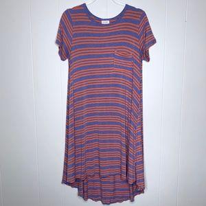 LuLaRoe Striped Carly Midi Dress